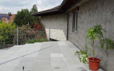 Neuer Gartensitzplatz